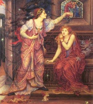 Queen Eleanor And Fair Rosamund   Evelyn De Morgan   Oil Painting