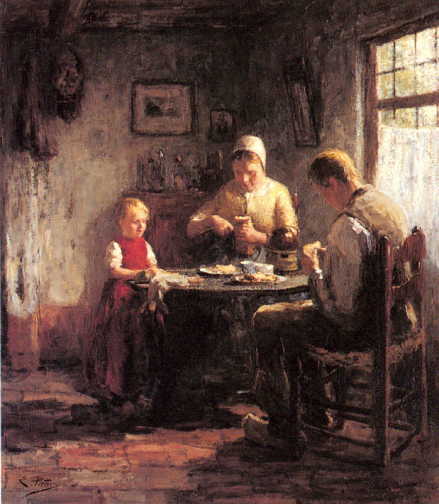 The Afternoon Meal | Evert Pieters | Oil Painting