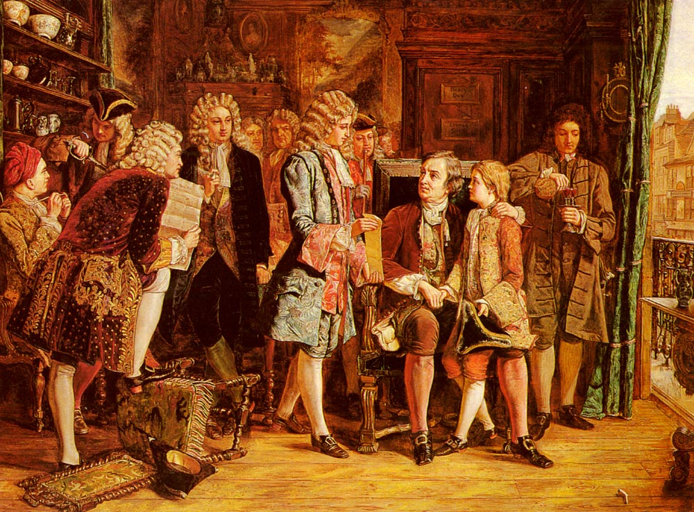 Popes Introduction To Dryden At Wills Coffee House | Eyre Crowe | Oil Painting