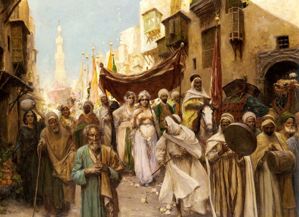 A Wedding Procession | Fabbio Fabbir | Oil Painting