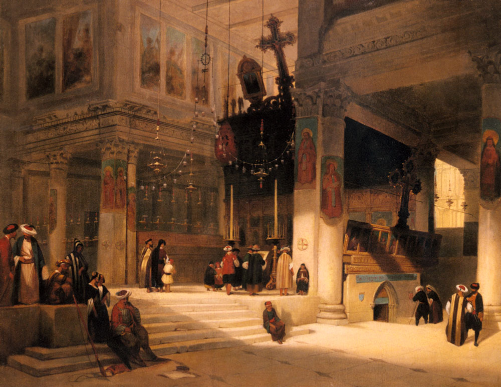 Followers Inside An Eastern Church | Fabius Germain Brest | Oil Painting