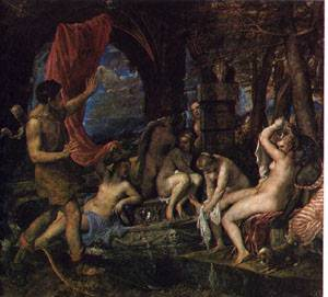 Artemis And Actaeon | rTiziano Vecellio Titian | Oil Painting