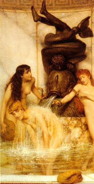 Stigils And Sponges   Sir Lawrence Alma Tadema   Oil Painting