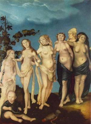 The Seven Ages Of Woman | Grien Hans Baldung | Oil Painting