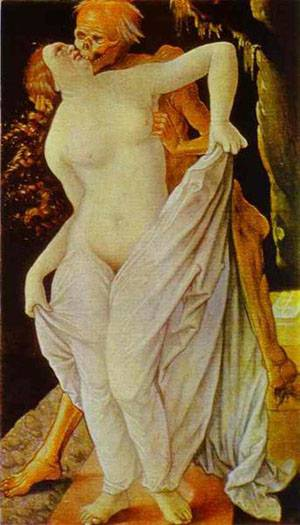 Woman And Death   Grien Hans Baldung   Oil Painting