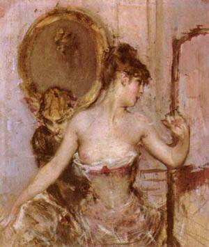Putting On Her Dress | Boldini Giovanni | Oil Painting
