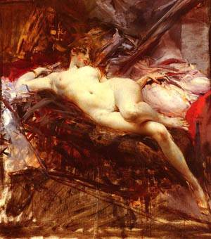 Reclining Nude | Boldini Giovanni | Oil Painting