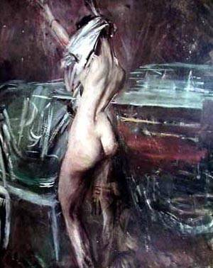Young Dark Lady | Boldini Giovanni | Oil Painting