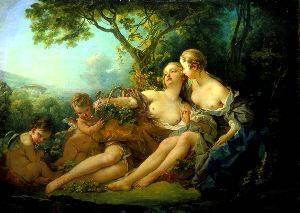 Bacchus And Erigone | Boucher Francois | Oil Painting