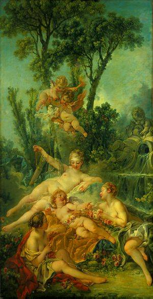 Cupid A Captive | Boucher Francois | Oil Painting