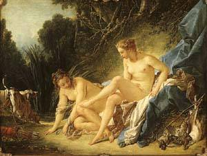 Diana Leaving Her Bath | Boucher Francois | Oil Painting