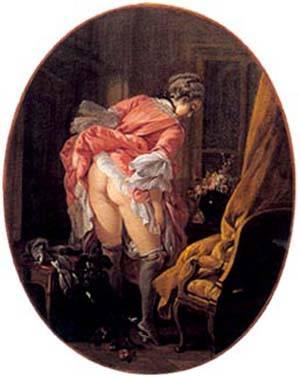 Girl Raising Her Skirt | Boucher Francois | Oil Painting
