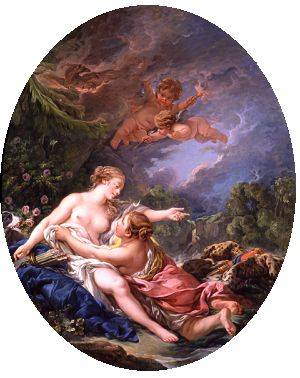 Jupiter And Callisto | Boucher Francois | Oil Painting