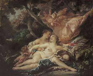 Jupiter In The Guise Of Diana | Boucher Francois | Oil Painting