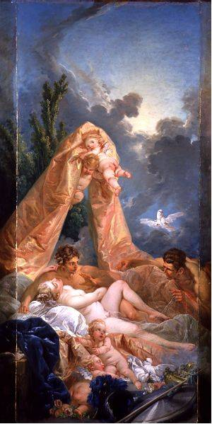 Venus And Mars Surprised By Vulcan | Boucher Francois | Oil Painting