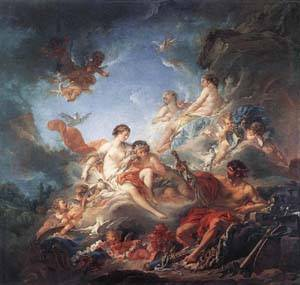 Vulcan Presenting Venus With Arms For Aeneas | Boucher Francois | Oil Painting