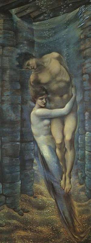 In The Depths Of The Sea | Sir Edward Coley Burne Jones | Oil Painting