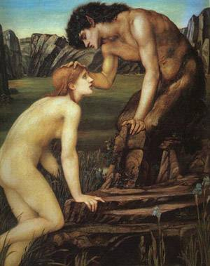 Pan And Psyche | Sir Edward Coley Burne Jones | Oil Painting