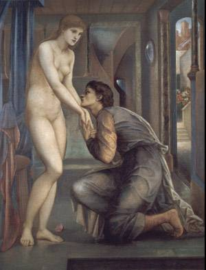 Pygmalion And The Image - The Soul Attains | Sir Edward Coley Burne Jones | Oil Painting