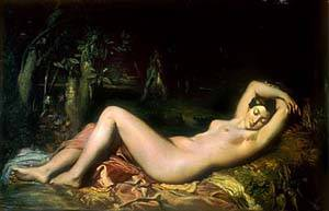 Bather Sleeping Near A Spring | Chasseriau Theodore | Oil Painting