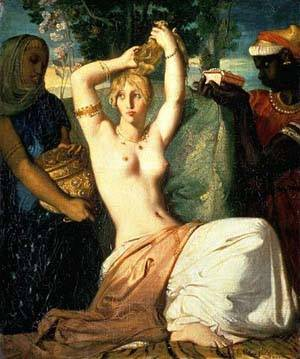 Ester Preparing Herself To Meet King Assuerus Esther At Her Toilette | Chasseriau Theodore | Oil Painting