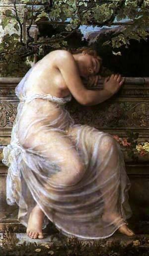 Sleeping Girl   Corbet Edith   Oil Painting