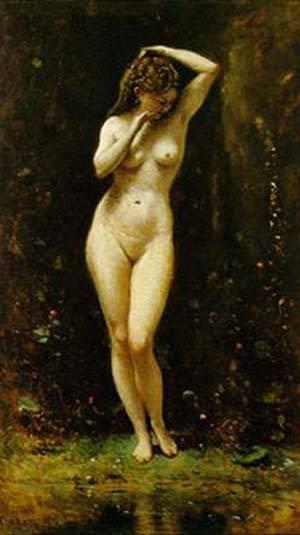 Diane Au Bain La Source | Corot Jean Baptiste Camille | Oil Painting