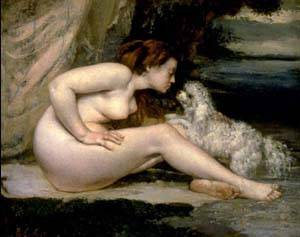Nude With A Dog | Gustave Courbet | Oil Painting