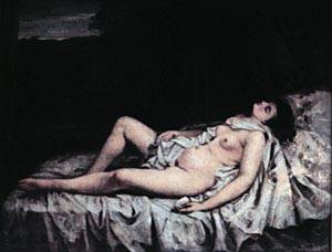 Reclining Nude | Gustave Courbet | Oil Painting