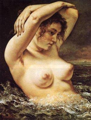 Woman In The Waves | Gustave Courbet | Oil Painting