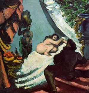 A Modern Olympia | Paul Cezanne | Oil Painting