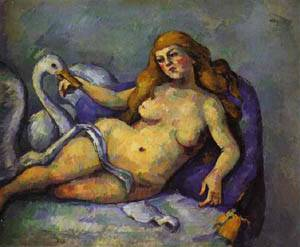 Leda With A Swan | Paul Cezanne | Oil Painting