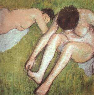 Bathers On The Grass | Edgar Degas | Oil Painting