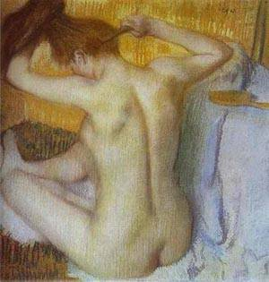 Woman Combing Her Hair | Edgar Degas | Oil Painting