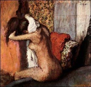 Woman Drying Her Nape | Edgar Degas | Oil Painting