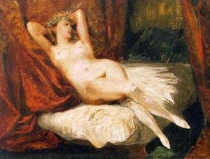 Nude Reclining On A Divan | Eugene Delacroix | Oil Painting