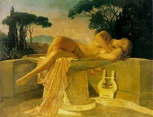 Girl In A Basin | Delaroche Paul | Oil Painting