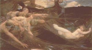 The Sea Maiden   Herbert Draper   Oil Painting
