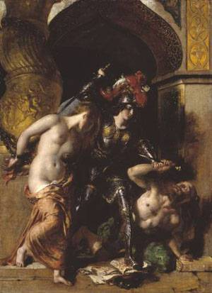 Britomart Redeems Faire Amoret | William Etty | Oil Painting