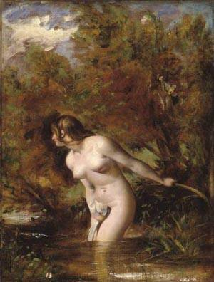 Musidora The Bather At The Doubtful Breeze Alarmed | William Etty | Oil Painting