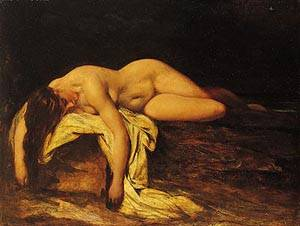 Nude Woman Asleep | William Etty | Oil Painting