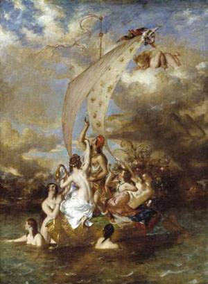 Youth At The Prow Pleasure At The Helm | William Etty | Oil Painting