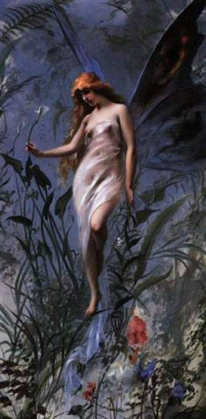 The Lily Fairy | Ricardo Falero Luis | Oil Painting