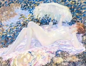 Venus In The Sunlight | Carl Frieseke Frederick | Oil Painting