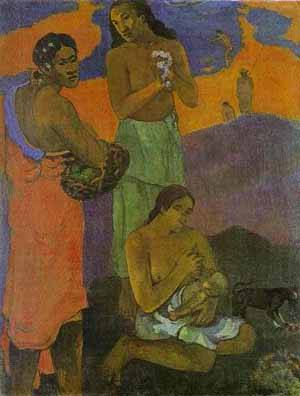 Motherhood Women On The Shore | Paul Gauguin | Oil Painting