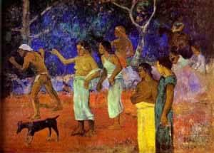 Scenes From Tahitian Life | Paul Gauguin | Oil Painting