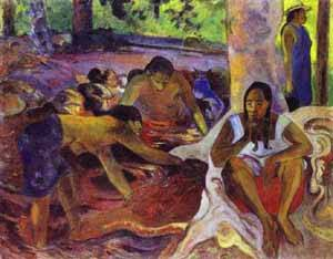 The Fisherwomen Of Tahiti | Paul Gauguin | Oil Painting