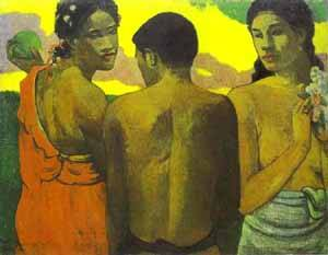 Three Tahitians | Paul Gauguin | Oil Painting