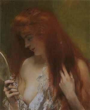 Jeune Femme Rousse A La Toilette | Gervex Henri | Oil Painting