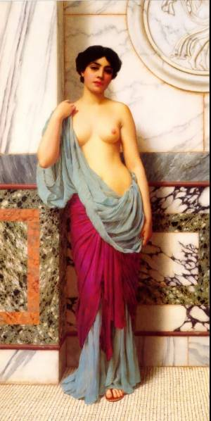 At The Thermae   Godward John William   Oil Painting